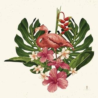 Tropische zomer illustraties. zomer embleem nuttig voor achtergrondontwerp.