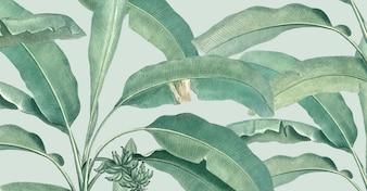 Tropische zomer patroon illustratie