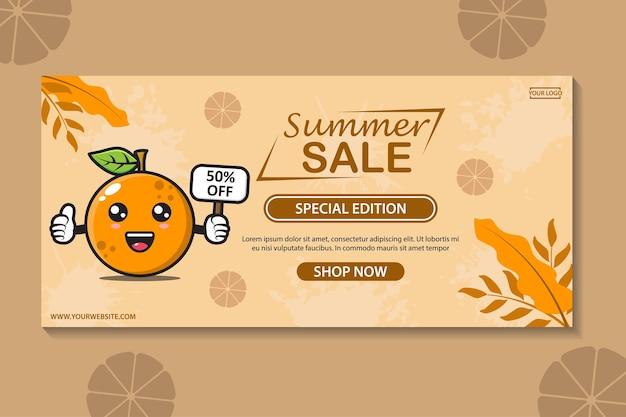 Tropische zomer verkoop banner sjabloon collectie