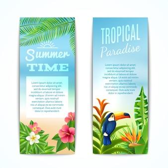 Tropische zomerbanner