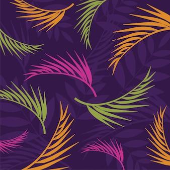 Tropische zomerbladeren