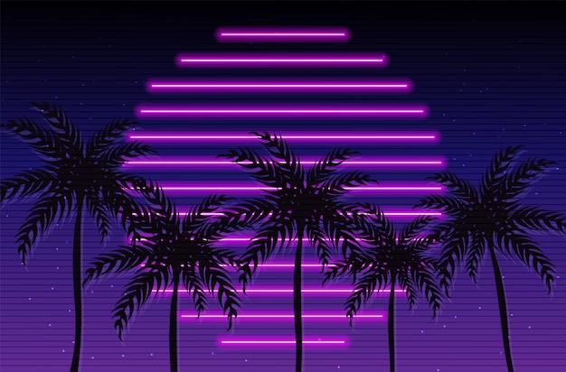 Tropische zonsondergang californië poster