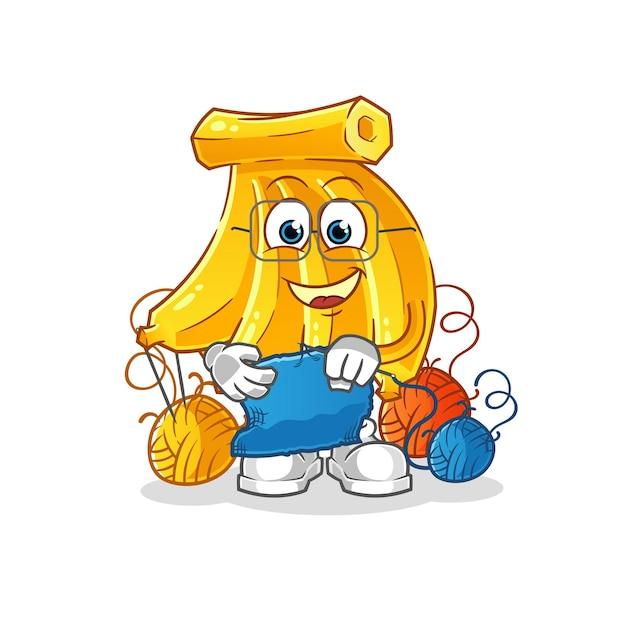 Tros bananen op maat mascotte. cartoon mascotte