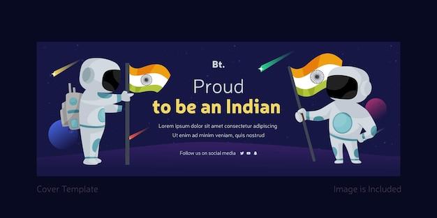 Trots om een indiase facebook-omslagpagina-sjabloon te zijn