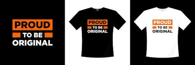 Trots om het originele ontwerp van de typografiet-shirt te zijn