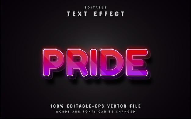 Trots teksteffect
