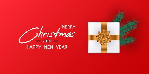Trouwen kerstmis en gelukkig nieuwjaarskaart. kerst banner.