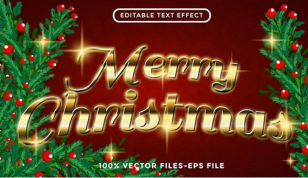 Trouwen met kersttekst bewerkbare teksteffect premium vectoren
