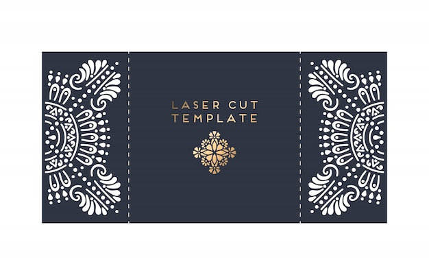 Trouwkaart laser gesneden kaart