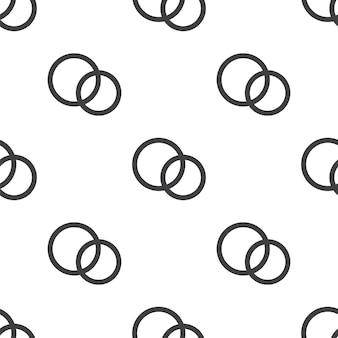 Trouwringen, vector naadloos patroon, bewerkbaar kan worden gebruikt voor webpagina-achtergronden, opvulpatronen