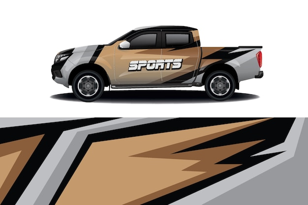 Truck auto sticker wrap design