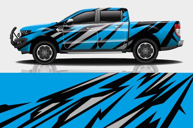 Truck auto sticker wrap design
