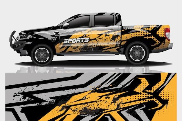 Truck auto sticker wrap ontwerp