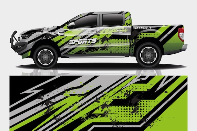 Truck auto sticker wrap