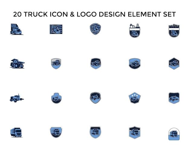 Truck badgeicon logo-ontwerpset