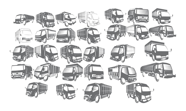 Truck logo set collections