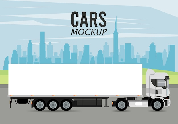 Truck mockup auto voertuig