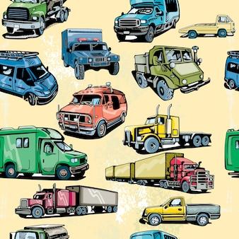 Truck naadloze patroon