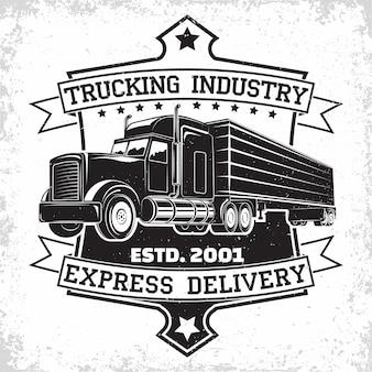 Trucking bedrijfslogo ontwerp Premium Vector