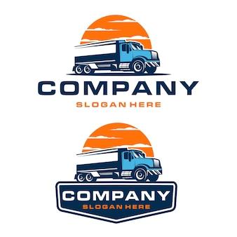 Trucking bedrijfslogo sjabloon Premium Vector