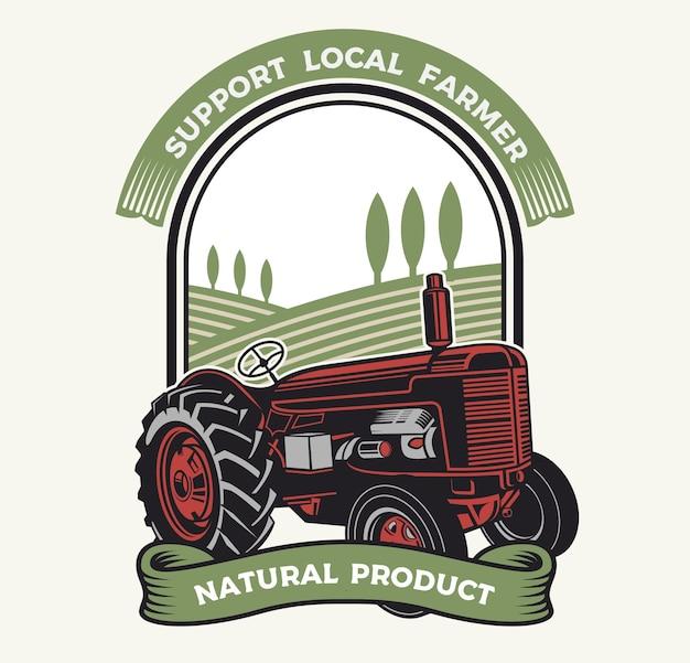 Trucktor op de boerderij