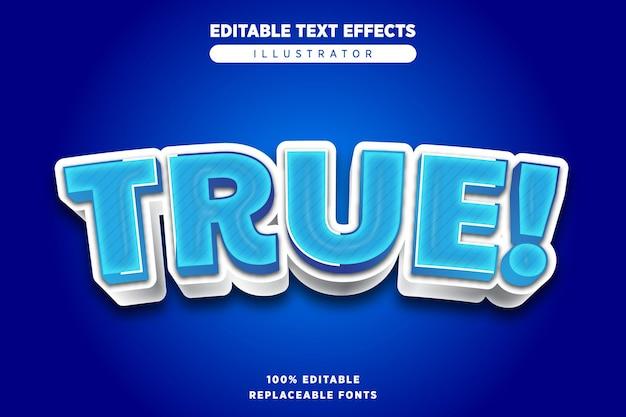 True-teksteffect bewerkbaar