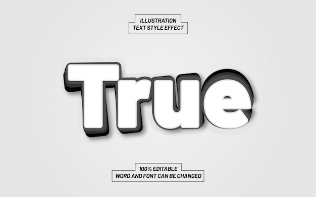 True text style effect