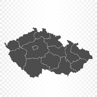Tsjechië kaart geïsoleerd op transparant