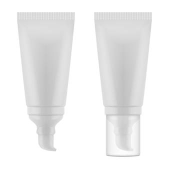 Tube voor crème met dispenser en transparante dop