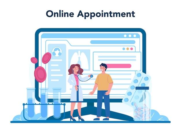 Tuberculose-specialist online service of platform