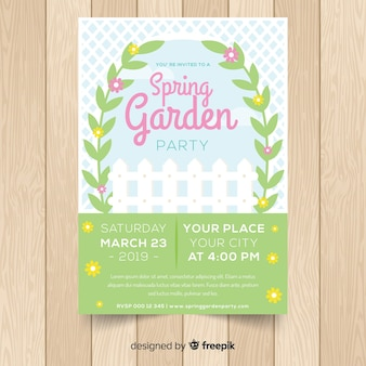 Tuin lente partij poster