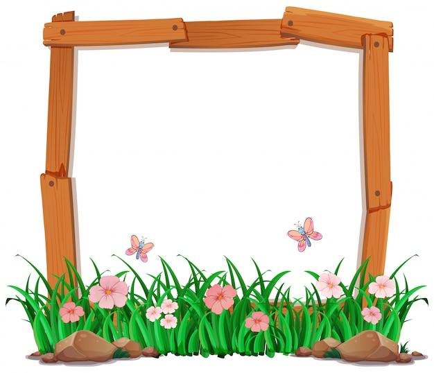 Tuin op houten frame