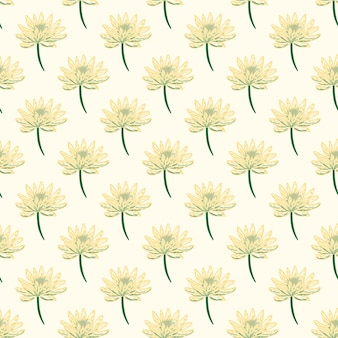 Tuin weide bloemen daisy naadloze patroon in doodle stijl.