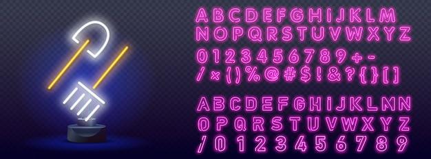 Tuingereedschap neon label