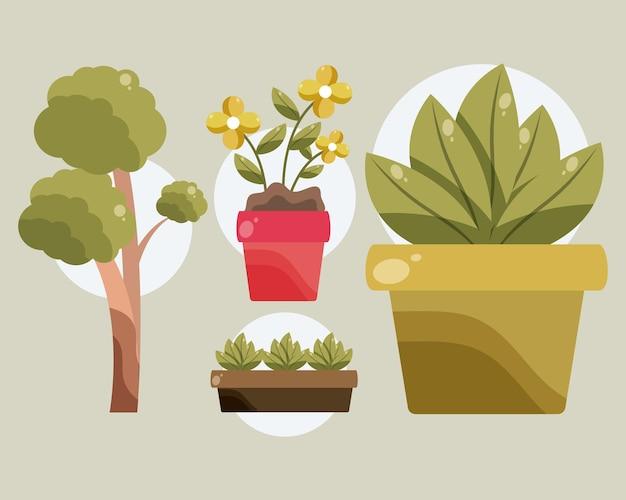 Tuinieren boom en planten