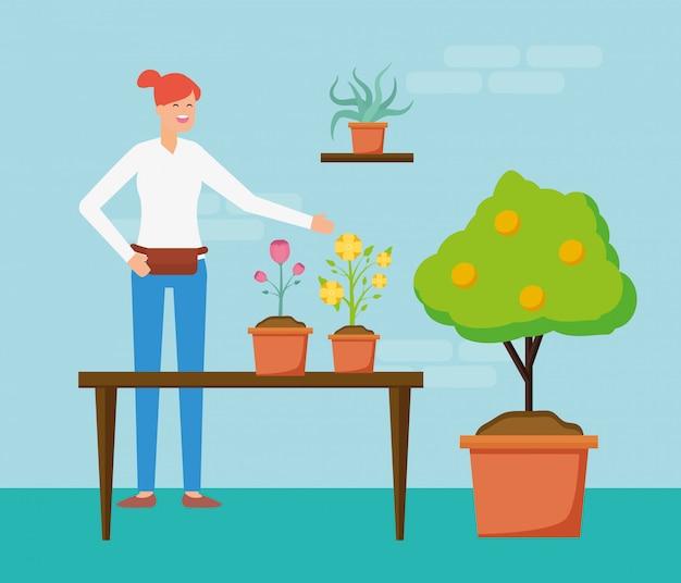 Tuinieren concept