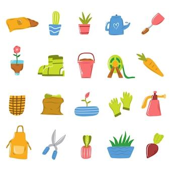 Tuinieren doodle Premium Vector