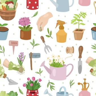 Tuinieren naadloze patroon