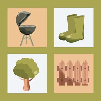 Tuinieren pictogrammenset