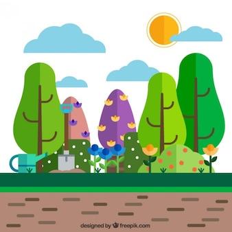 Tuinlandschap achtergrond