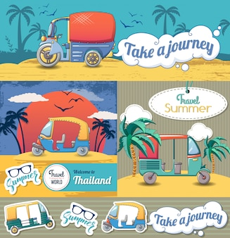 Tuk riksja thailand banner instellen