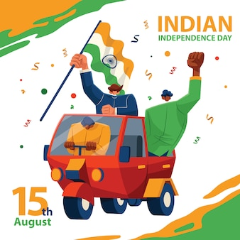 Tuk tuk ride for indian independence day