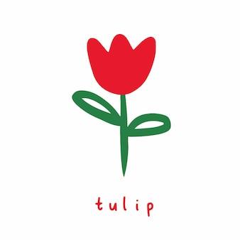 Tulpen bloem symbool social media post vector illustratie