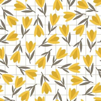 Tulpen naadloos patroon