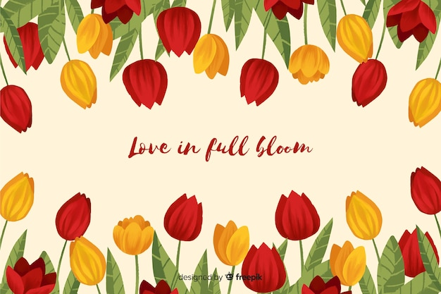 Tulpenkader met een krachtig bericht