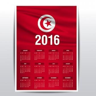 Tunesië kalender van 2016
