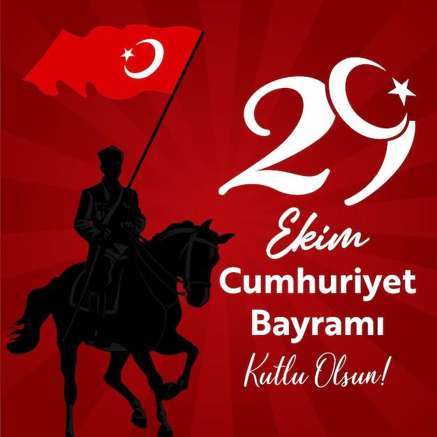 Turkije 29 oktober republiek dag met ataturk