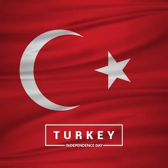 Turkije afzien vlag met typografie