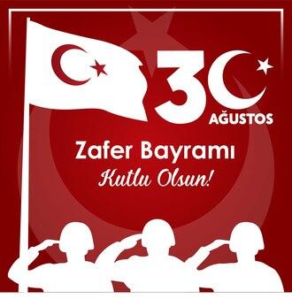 Turkije gelukkige dertig augustus overwinningsdag