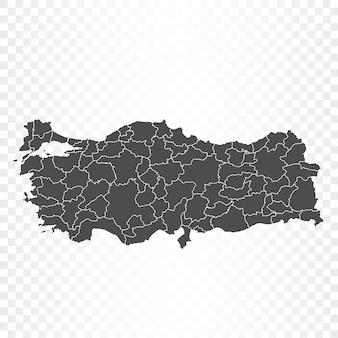 Turkije kaart geïsoleerde weergave